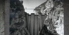 durante la costruzione della diga / during dam's construction - historic photo fondazione vajont