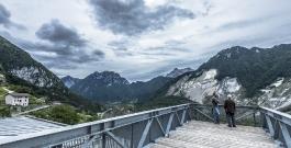 marc augé on the footbridge of the nuovo spazio di casso - photo giacomo de donà
