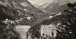 prima della tragedia / before the tragedy - historic photo fondazione vajont