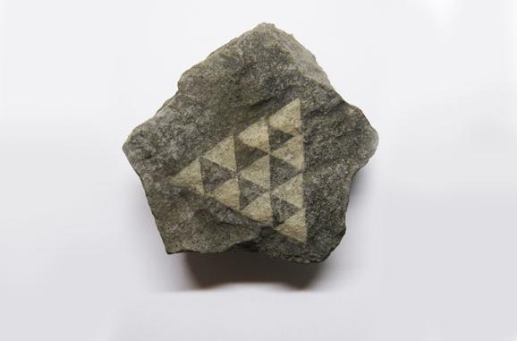 idropulitura su roccia calcarea, 15x5x10cm